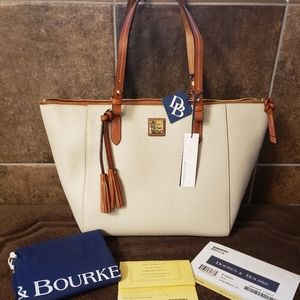Dooney & Bourke Large Maxine Tote Ecru